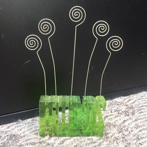 Other - Green Sparkled Friends Photo Holder